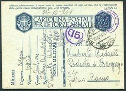 1941 Italy Cartolina Postale Per Le Forze Armate, Stationery Postcard. Post Militare 210 Censura - Como. Automobil - Marcophilia