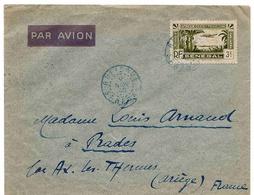Sénégal Lettre Avion Rufisque Prades 1940  Palmier Airmail Cover Brief Carta - Sénégal (1887-1944)