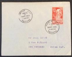 39-1 Abbaye De Sainte Croix 926  FDC Premier Jour 21/6/1952 Lettre - FDC
