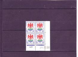 N° 1184 - 2F Blason De NICE - B De A+B - 1° Tirage Du 9.10 Au 7.11.58 - 20.10.1958 - - Dated Corners