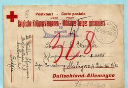 Postkaart Belgische Krijgsgevangenen, Afst. KORBEEK-LOO 09/09/1940 Naar STALAG VIII A, Ontvangen 16/10/1940 + Censuur - Guerre 40-45