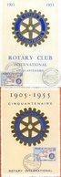 "Maroc,2 Carte Maximum,FDC 1955,TP N° 344 "" Rotary International ""Morocco,Marruecos - Maroc (1891-1956)"