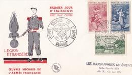 ALGERIE  :  FDC   Légion Etrangère Oeuvres Sociales Oblitération 1er Jour D'Oran Du 30 11 1957 - FDC