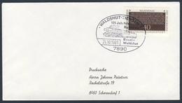 Deutschland Germany 1981 Brief Cover - 125 Jahrfeier Bahnlinie Basel-Waldshut / Eisenbahn / Railway - Trains