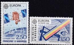 Frankreich, 1991,  423/24,  MNH **,  Europa: Europäische Weltraumfahrt. - Ungebraucht