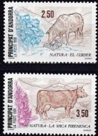 Frankreich, 1991,  426/27,  MNH **,  Naturschutz. Schaf, Pyrenäenrind - Ungebraucht
