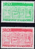 Frankreich, 1991,  431/32,  MNH **, Freimarken: Ältestes Wappen Von Andorra. - Ungebraucht