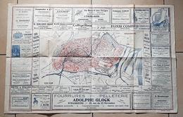 PLAN RECLAME De La Ville De STRASBOURG. Juillet 1919 Par Les Magasins Modernes (Tirage 10000 Exemplaires) - Cartes