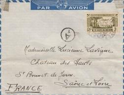 LETTRE. SENEGAL. 1940. DAKAR POUR ST BONNET-DE-JOUX SAONE-ET-LOIRE. N°183 SEUL SUR LETTRE . CONTROLE CENSURE /   2 - Sénégal (1887-1944)