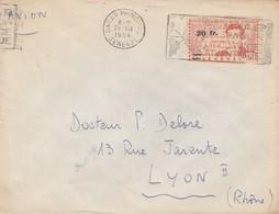 LETTRE. SENEGAL. 1954. DAKAR POUR LYON. RENE CAILLE SEUL SUR LETTRE . /   2 - Sénégal (1887-1944)