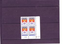 N° 1183 - 1F Blason De BORDEAUX - B De A+B - Du 10.9.58 Au 6.10.58 - 1.10.1958 - - Dated Corners