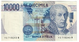 Italy 10000 Lire Volta YG Series SPL / XF - [ 2] 1946-… : Repubblica