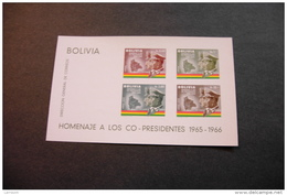 Bolivia C260a Map & Flag Generals Ovando And Barrientos Souvenir Sheet Block MNH 1966 A04s - Bolivia
