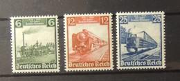 12 - 19 //  Allemagne Deutschland - Michel N° 580 - 581 - 582 - Tous * - MH - Train - Allemagne