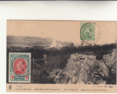 Guerre 1914 - 1915 Ablain Saint Nazaire, Occupazione Belga. Post Card Used To Italy - Guerra '14-'18