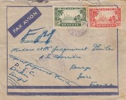 LETTRE. SENEGAL. PAR AVION. FM. . DAKAR DEPOT DES ISOLÉS POUR RANGE ISERE   /   2 - Sénégal (1887-1944)