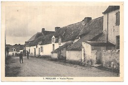 Cpa...Mesquer...vieilles Maisons...animée...1944... - Mesquer Quimiac