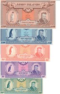 Jason Islands Lot Set 5 UNC Banknotes - Isole Falkland