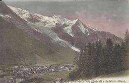 74 CHAMONIX MONT BLANC VUE GENERALE 2 CARTES EDITEUR FRANCO SUISSE BF 1869 COLORISEE CATALA BF 46 NOIR ET BLANC - Chamonix-Mont-Blanc