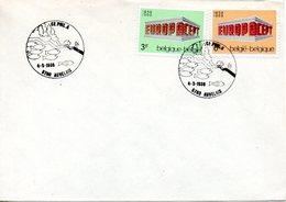 BELGIQUE. Flamme De 1986 Sur Enveloppe. Protection Des Poissons. - Environment & Climate Protection