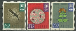 POLAND Oblitéré 1206-1208 éradication Du Paludisme Moustique Santé Microbe Felur De Quinquina - 1944-.... Republic