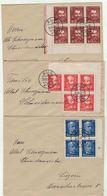 Suisse // Schweiz // Switzerland //  1907-1939 //  3 Lettres Dernier Jour Du Cinquantenaire De La Ligne Du Gotthard - Covers & Documents
