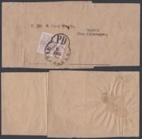 BELGIQUE COB 29 SUR BANDE JOURNAL COMPLETE DE BRUXELLES IMPRIME 06/12/1870 VERS NANCY RR  (DD) DC-5010 - 1869-1883 Leopold II