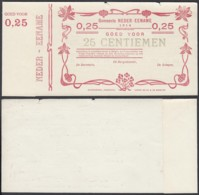 BELGIQUE 1914 BILLET DE NECESSITE DE AUDENAERDE 25 C EN ROUGE (DD) DC-5015 - Belgio