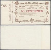 BELGIQUE 1914 BILLET DE NECESSITE DE AUDENAERDE 50 C EN BRUN (DD) DC-5016 - België