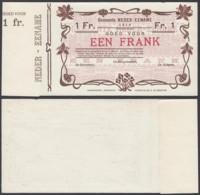 BELGIQUE 1914 BILLET DE NECESSITE DE AUDENAERDE 1 Fr (DD) DC-5017 - Belgique