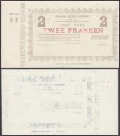 BELGIQUE 1914 BILLET DE NECESSITE DE AUDENAERDE 2 Fr (DD) DC-5019 - Belgio