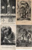 Paris - 4 CPA (Gravures) Eglise St Julien Lke Pauvre (2) Cimetière De La Madeleine - Chapelle Expiatoire  (117805) - Museen
