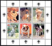 CARELIE KARELIA 1998, CHIENS / DOGS, Feuillet De 6 Valeurs, NEUFS / MINT. R1213 - Vignettes De Fantaisie