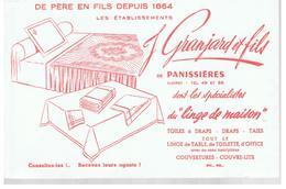 Buvard De Père En Fils Depuis 1864 Ets J Granjard Et Fils De Panissières (Loire) Spécialiste Du Linge De Maison - Textilos & Vestidos