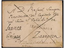 SPAIN: PREPHILATELIC MARKS  DP04 ARAGON - España