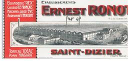 Buvard Etablissements Ernest Ronot Saint-Dizier Tonneau IDEAL Pompe NIAGARA - Agriculture