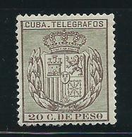 Cuba Sueltos Telegrafos Edifil 70 * Mh - Cuba (1874-1898)