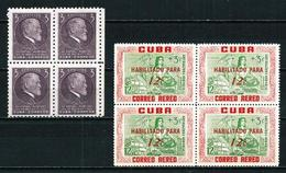 Cuba Nº 383 Y A-203 [4] Nuevo Cat.22,20€ - Cuba