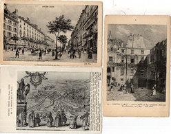 Ancien Paris - 3 CPA (Gravures) Hotel De La Trémoille- Bd Des Italiens (1840) Enceinte Nord  (117810) - France