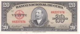 BILLETE DE CUBA DE 20 PESOS DEL AÑO 1958 SIN CIRCULAR (BANKNOTE) UNCIRCULATED - Cuba