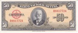 BILLETE DE CUBA DE 50 PESOS DEL AÑO 1958 SIN CIRCULAR (BANKNOTE) UNCIRCULATED - Cuba