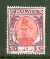 Malaya - Selangor: 1949/55   Sultan Hisamud-din Alam Shah   SG104    30c     Used - Selangor