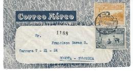 COVER CORREO AEREO PEROU - BOGOTA - COLOMBIA. - Pérou