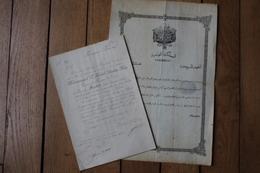 Diplôme De Médaille Nichan Iftikhar  1 Ere Classe  1927 - Manuscrits