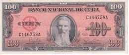 BILLETE DE CUBA DE 100 PESOS DEL AÑO 1959 CALIDAD EBC (XF) (BANKNOTE) - Cuba