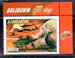 """(WK-Alb1) Aserbaidschan, Mi 606, """"WWII - 60 Jahre Kriegsende""""  ** Postfrisch - Azerbaïjan"""