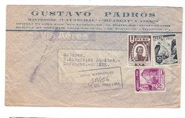 COVER CORREO AEREO PEROU - LIMA - ZOFINGEN - SUISSE - 1947. - Pérou