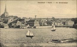 Cp Neustadt In Ostholstein, Am Binnenwasser, Segelboote, Kirchturm, Windrad - Allemagne