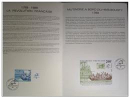 BICENTENAIRE DE LA REVOLUTION FRANCAISE/POLYNESIE FRANCAISE/BICENTENAIRE MUTINERIE DU BOUNTY/1989 - FDC