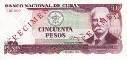 SPECIMEN BILLETE DE CUBA DE 50 PESOS DEL AÑO 1990 DE CALIXTO GARCIA  SIN CIRCULAR-UNCIRCULATED - Cuba
